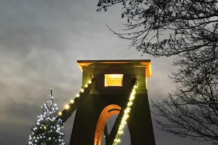 Clifton Suspension Bridge at Christmas